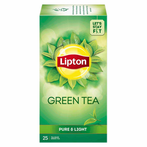 Picture of Lipton Pure & Light Green Tea Bags, 25 Pieces