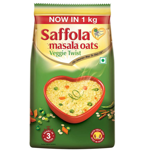 Picture of Saffola Masala Oats Veggie Twist, 1kg