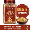 Picture of INDIA GATE Brown Basmati Rice, 12 Min Active Health Special with Rich Dietary Fibre, 1 Kg Jar with 200 gm Quinoa Free