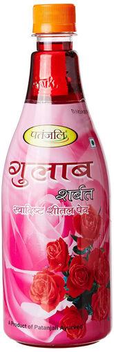 Picture of Patanjali Gulab Sharbat Bottle, 750ml