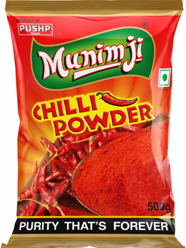 Picture of PUSHP Munimji red Chilli Powder Lal Mirch 500g