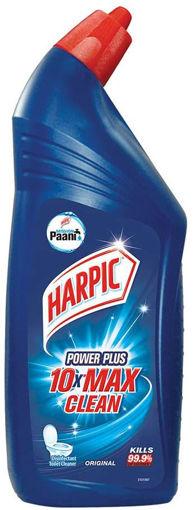 Picture of Harpic Power Plus 10x MAX CLEAN Disinfectant Toilet Cleaner Liquid, Original  | Kills 99.9% Germs, 600ml