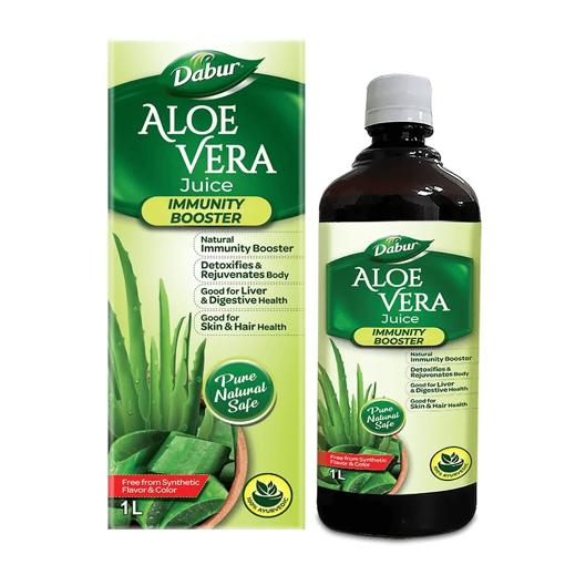 Picture of Dabur Aloe Vera Juice - 100% Ayurvedic, 1 L