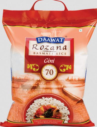 Picture of Daawat Rozana Gini 70 Basmati Rice 1Kg Khulla Packet