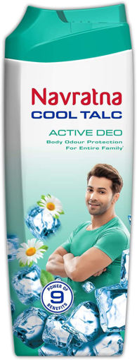 Picture of Navratna Cool Talc ACTIVE DEO, 100g With Free Mentho Balm 9ml Worth