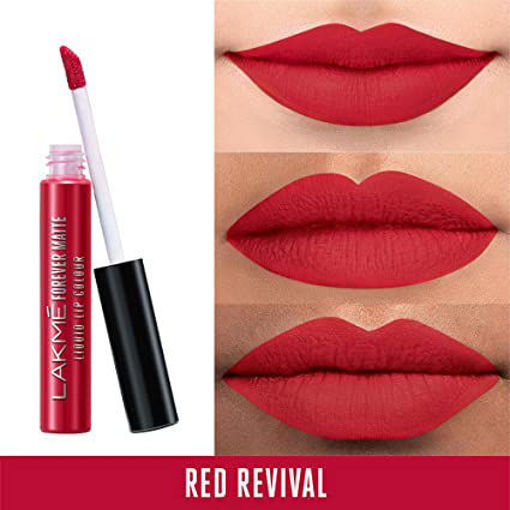 Picture of LAKME FOREVER MATTE LIQUID LIP COLOR (RED REVIVAL) 5.6ML