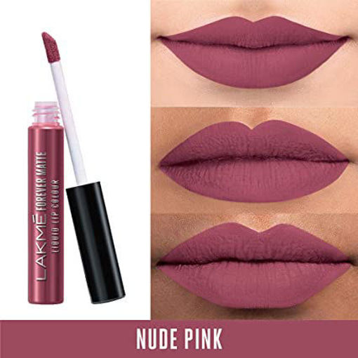 Picture of LAKME FOREVER MATTE LIQUID LIP COLOR (NUDE PINK) 5.6ML