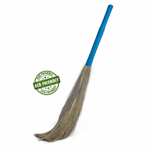Picture of Grass Broom Stick , Phool Jhadu , for Floor Cleaning with Plastic Handle