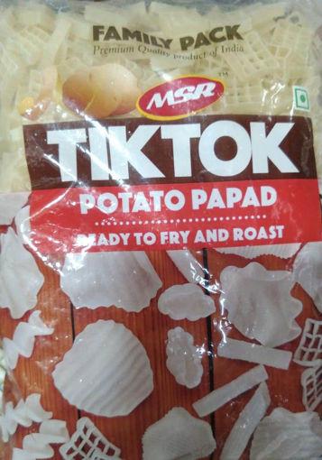 Picture of TIKTOK Potato Papad, Ready To Fry And Roast, 500g