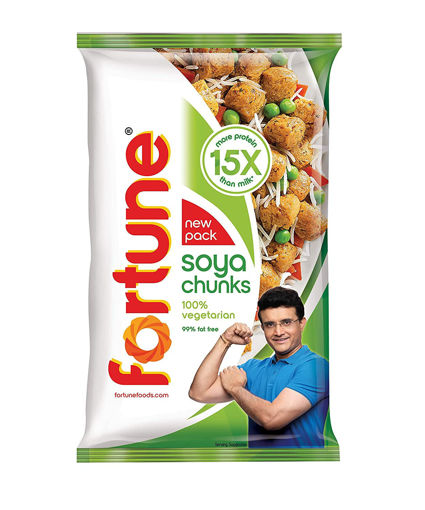 Picture of Fortune SOYA Chunks, 15x More Protein Than Milk Soyabean Bari, 1kg