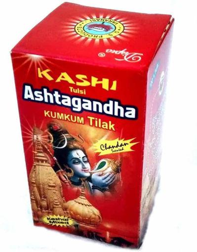Picture of Poojan Kashi Tulsi Ashtagandha Kumkum Tilak Pure Chandan Powder, 125g