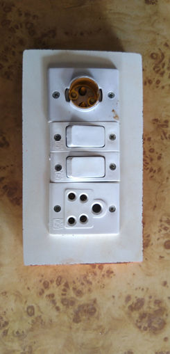 Picture of Wood fitting holder 5 pin socket and switch